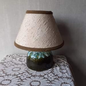 West German Vintage Fat Lava Ceramic Lamp
