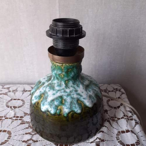 West German Vintage Fat Lava Ceramic Lamp image-2