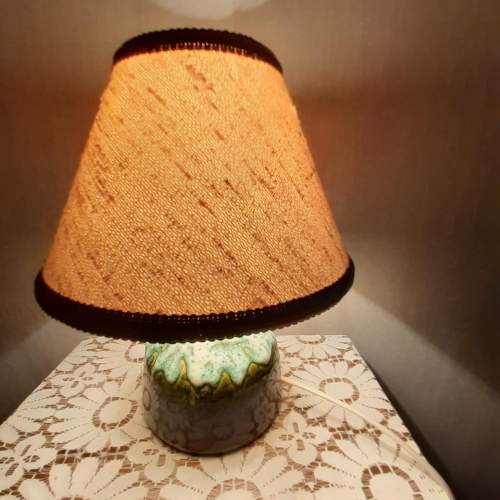 West German Vintage Fat Lava Ceramic Lamp image-5