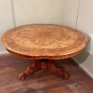 Fine 19th Century Inlaid Burr Walnut Centre Table