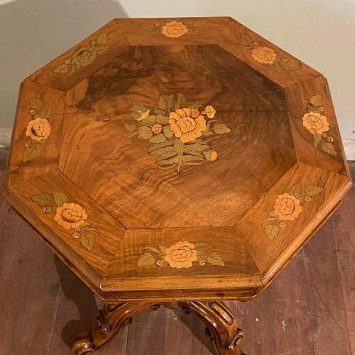 Victorian Inlaid Walnut Sewing Table image-5