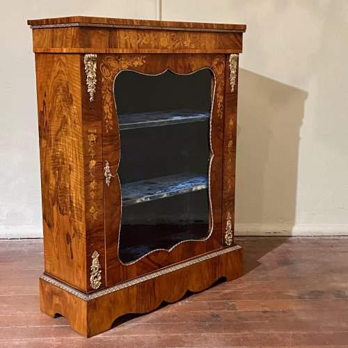 Victorian Burr Walnut Pier Cabinet image-1