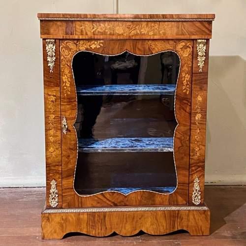 Victorian Burr Walnut Pier Cabinet image-2