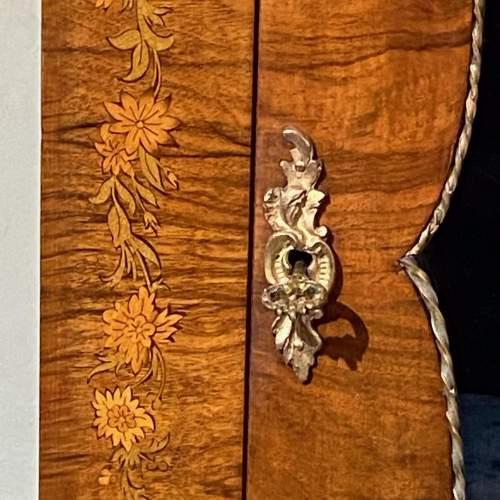 Victorian Burr Walnut Pier Cabinet image-5