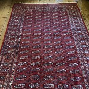 Superb Quality Hand Knotted Bokhara Rug In Turkoman Design