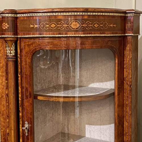 Fantastic Large Victorian Burr Walnut Inlaid Credenza image-2