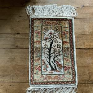 Stunning Hand Knotted Turkish Rug In Silk Tree Of Life Superb