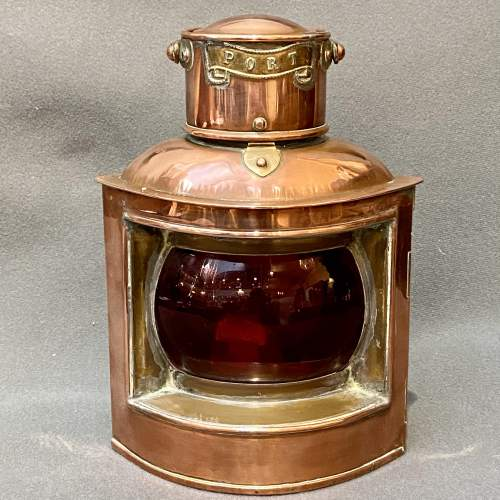 Pair of 19th Century Copper and Brass Canal Boat Lanterns image-3
