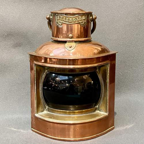 Pair of 19th Century Copper and Brass Canal Boat Lanterns image-4