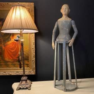 19th Century Santos Cage Doll