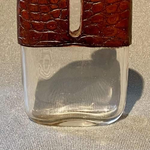 19th Century James Dixon Silver and Crocodile Skin Hip Flask image-4