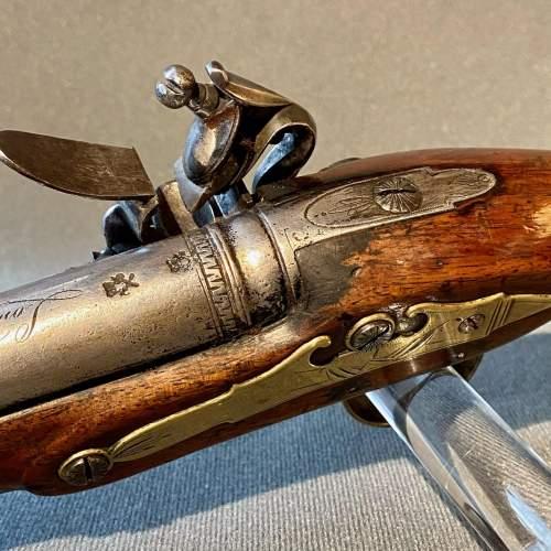 Early 19th Century Cased Pair of Flintlock Holster Pistols image-5