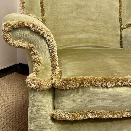 20th Century Upholstered Wing Back Chair image-3