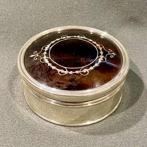 Early 20th Century Silver and Tortoiseshell Trinket Box
