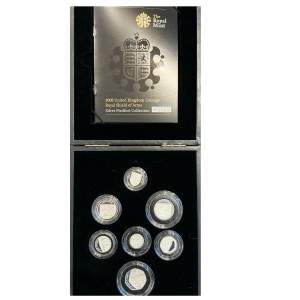 2008 UK Coinage Royal Shield of Arms Silver Piedfort Collection
