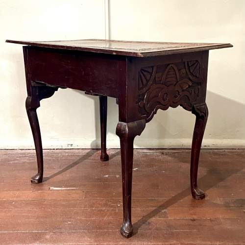 Late 17th Century Heavily Carved Oak Three Drawer Table image-4