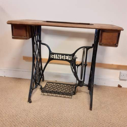 Singer Cast Iron Sewing Machine Table image-1