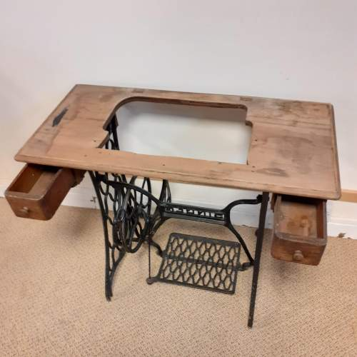 Singer Cast Iron Sewing Machine Table image-2