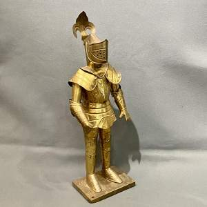 20th Century Sheet Brass Miniature Suit of Armour
