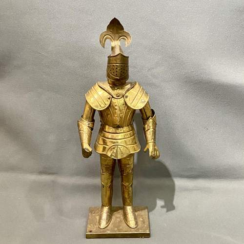 20th Century Sheet Brass Miniature Suit of Armour image-2