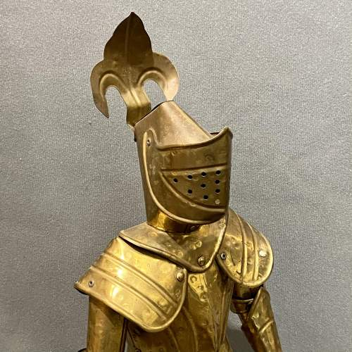 20th Century Sheet Brass Miniature Suit of Armour image-3