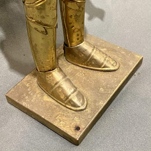 20th Century Sheet Brass Miniature Suit of Armour image-5