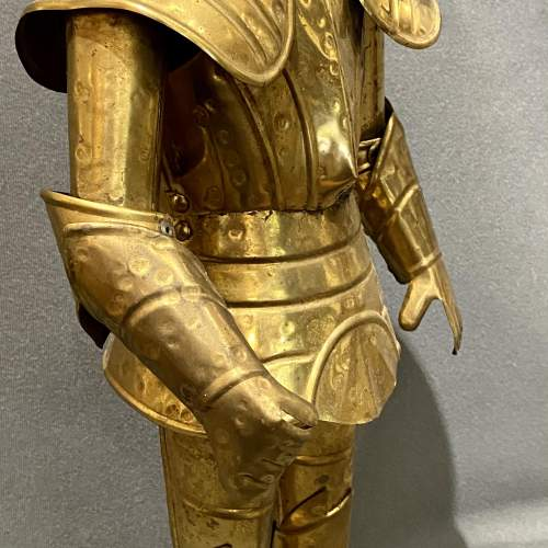 20th Century Sheet Brass Miniature Suit of Armour image-4