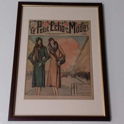 Original Front Page of Le Petit Echo de la Mode Newspaper 1929 image-1