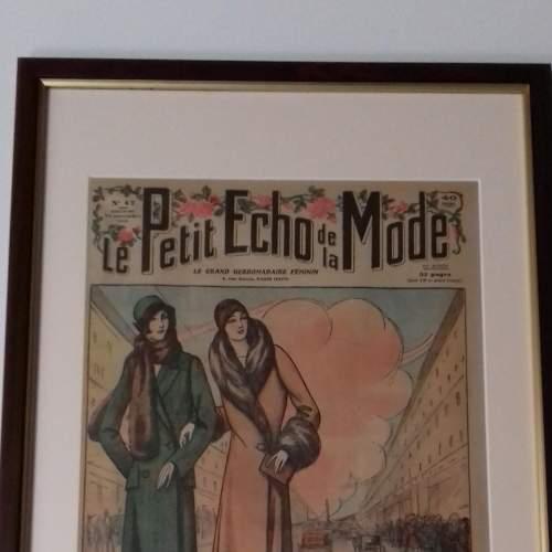 Original Front Page of Le Petit Echo de la Mode Newspaper 1929 image-2