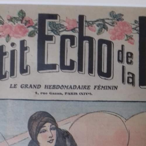 Original Front Page of Le Petit Echo de la Mode Newspaper 1929 image-3