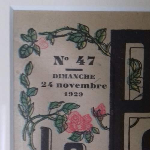 Original Front Page of Le Petit Echo de la Mode Newspaper 1929 image-5