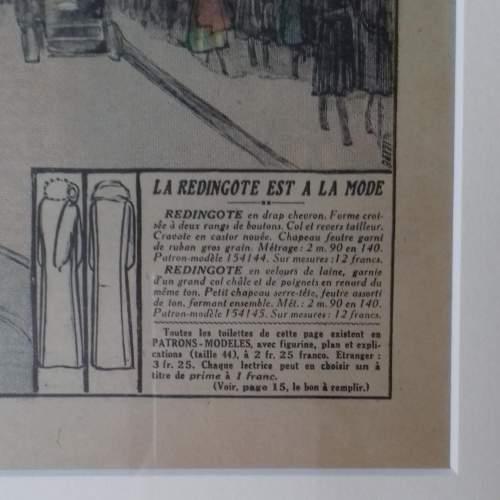 Original Front Page of Le Petit Echo de la Mode Newspaper 1929 image-6