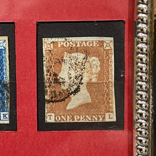 Fine Silver Framed Penny Black Penny Red and Two Pence Blue image-4