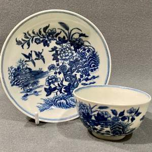 18th Century Worcester Half Size Tea Bowl and Saucer