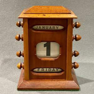 Edwardian Mahogany Perpetual Desk Calendar