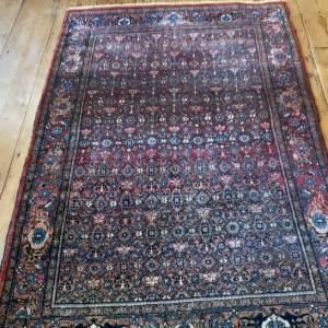 Superb Quality Old Hand Knotted Persian Rug Bidjar All Over Design