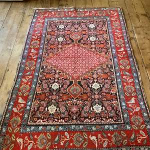 Superb Quality Old Hand Knotted Caucasian Rug Karabagh Unusual