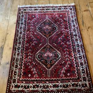 Old Hand Knotted Persian Rug Shiraz Village Rug Nice Quality