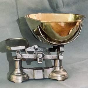 Large Polished Cast Iron Shop Scales