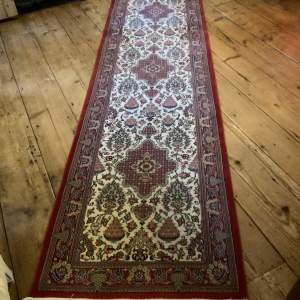 Stunning Hand Knotted Persian Runner Kerman Very Fine Knot Count