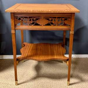 Late 19th Century Inlaid Satinwood Occasional Table