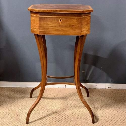 Regency Period Rosewood Inlaid Teapoy image-1