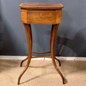 Regency Period Rosewood Inlaid Teapoy