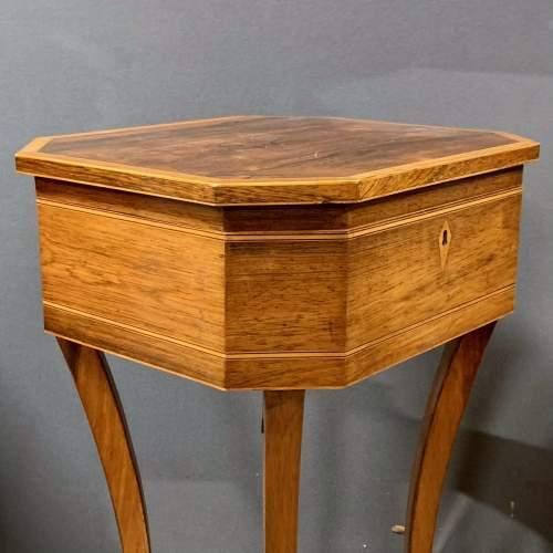 Regency Period Rosewood Inlaid Teapoy image-4