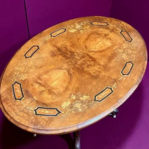 Victorian Inlaid Walnut Breakfast Table image-2
