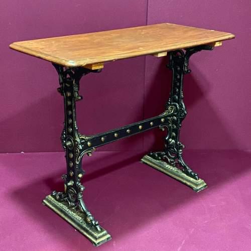 Pub Table with Cast Iron Base image-1