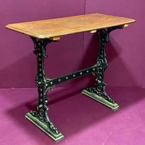 Pub Table with Cast Iron Base