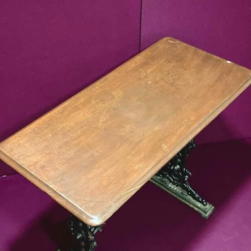 Pub Table with Cast Iron Base image-4