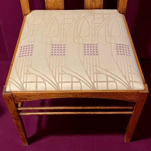 Charles Rennie Mackintosh Inspired Pair of High Back Chairs image-3