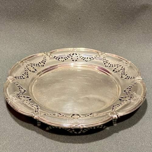 Edwardian Solid Silver Pierced Plate image-1